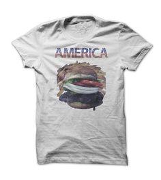 America Burger #sunfrogshirt