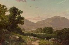 O primavera floresce ao longo de um rio Meandering por Louis Aston Knight (1873-1948, France)