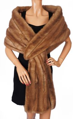 Vintage Elsa Schiaparelli Paris Mink Fur Stole Wrap 1950s Glamour