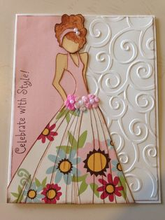 Celebrate with style! Prima doll card.