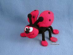 Ladybug amigurumi crochet pattern by jasminetoys on Etsy