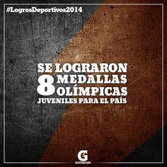 #Pinterest Logros Deportivos 2014: Se lograron 8 medallas olímpicas juveniles para el país.
