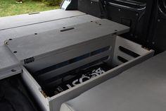 VW T5/T6 Transporter - TRAVEL-SLEEP-BOX Vw T5, Vw Transporter Camper, Kombi Camper, Volkswagen, Campervan, Caravelle Vw, Sleep Box, Homemade Camper, Camper Interior