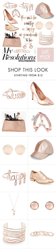 """""""#PolyPresents: New Year's Resolutions"""" by alexis-mathias ❤ liked on Polyvore featuring Call it SPRING, Linda Farrow, Wanted, Simons, Alexis Bittar, Kendra Scott, contestentry and polyPresents"""