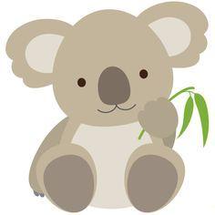 Cute Koala This adorable koala emoticon is ready to be shared on. Felt Animals, Baby Animals, Cute Animals, Quilt Baby, Illustration Koala, Logo Animal, 2 Baby, Safari Party, Applique Patterns