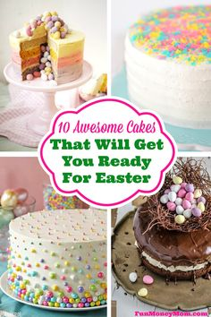 Have you been thinking of making cakes for Easter this year? Check these out for inspiration!