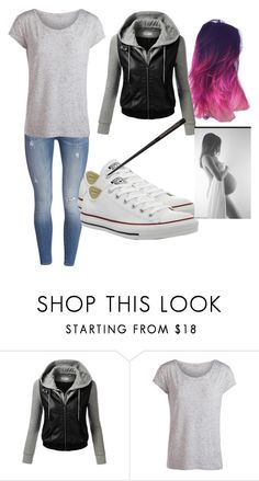 """Annabelle Potter"" by oomfoveryou ❤ liked on Polyvore featuring J.TOMSON, Pieces, Converse, women's clothing, women's fashion, women, female, woman, misses and juniors"