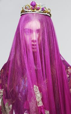 ☫ A Veiled Tale ☫ wedding, artistic and couture veil inspiration - purple