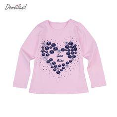 $8.39 (Buy here: https://alitems.com/g/1e8d114494ebda23ff8b16525dc3e8/?i=5&ulp=https%3A%2F%2Fwww.aliexpress.com%2Fitem%2F2016-New-Fashion-brand-cute-Baby-Girl-Clothes-Long-Sleeve-Rhinestone-Cute-kids-love-T-Shirts%2F32710772273.html ) 2017 New Fashion brand domeiland cute Baby Girl Clothes Long Sleeve Rhinestone Cute kids love T-Shirts Basic Cotton clothing for just $8.39