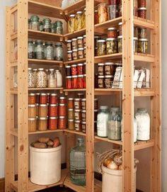 Love this!!!!! Mason jar storage.