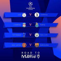 Champions League quarter-final draw Tottenham v Man City ,Barcelona v Man Utd, Liverpool v Porto and Ajax v Juventus Manchester United, Manchester City, Camp Nou, Old Trafford, Uefa Champions League, Man United, Tottenham Hotspur, Liverpool Fc, Taekwondo