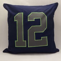 A personal favorite from my Etsy shop https://www.etsy.com/listing/219338758/seattle-seahawks-12th-man-pillow-hawks
