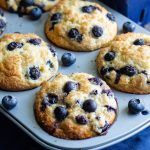 Jumbo Blueberry Muffins - Sometimes a regular-sized muffin just won't do! Jumbo Blueberry Muffin Recipe, Blueberry Yogurt Muffins, Jumbo Muffins, Lemon Muffins, Blueberry Recipes, Blue Berry Muffins, Healthy Muffin Recipes, Easy Baking Recipes, Donut Recipes