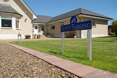 Private safe parking is part of the deal. We once had 15 cars in the garden, so 3 guest cars and  2 of ours is easy-peasy