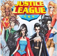 Justice League Fashion Collection by Guillermo Meraz