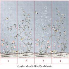 Garden Metallic Self-Adhesive Wall Murals Textured Wallpaper, Fabric Wallpaper, Chinese Wallpaper, Removable Wall Murals, Chinoiserie Wallpaper, Design Repeats, Semi Gloss Paint, Diy Design, Groomsmen