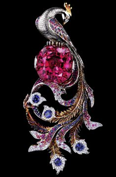 Jewelled Peacock Brooch via Soslan & Albina Gioti, designer and journalist