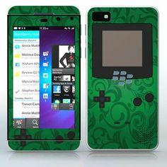 Dark Green Video Game Designer Device Flowered video game device pattern phone skin sticker for Cell Phones / Blackberry Z10 | $7.95