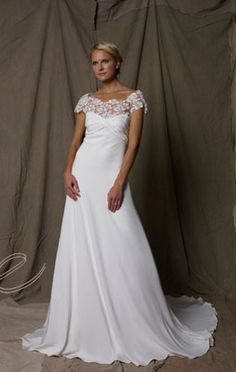 Lace Boatneck on Wedding Gown