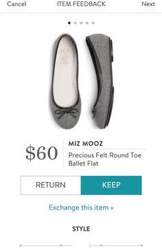 MIZ MOOZ Precious Felt Round Toe Ballet Flat from Stitch Fix. https://www.stitchfix.com/referral/4292370