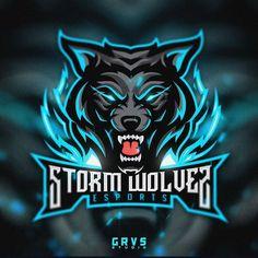 "Photo by Febryan ""Graves"" Satria on August Logo D'art, Typography Logo, Art Logo, Wolf, Iphone Wallpaper King, Youtube Logo, Intro Youtube, Game Logo Design, Esports Logo"