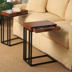 Possibly the best invention? DIY side table! | DIY | Pinterest ...