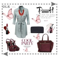 """""""WIN $20 IN CASH! DLR - LUXURY BOUTIQUE"""" by merima-balukovic ❤ liked on Polyvore featuring Yves Saint Laurent, Borbonese, Kate Spade, LE3NO, NARS Cosmetics, MAC Cosmetics, Matthew Williamson and dlr"""