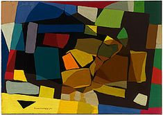 Grace CROWLEY  'Abstract painting' 1952  Purchased 1976