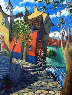 Miguel Freitas Miguel Freitas grew up in Lisbon, Portugal and moved with his family. Art Folder, Art Case, Arte Pop, Traditional Paintings, Naive Art, Art Graphique, Whimsical Art, Monuments, Unique Art