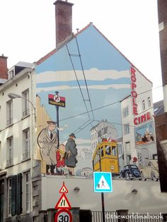 Mural wall in Brussels