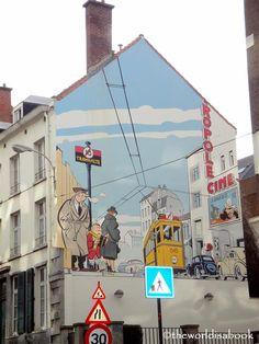 Mural wall in Brussels