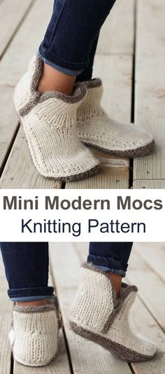 Mini Modern Mocs – Knitting Pattern The Effective Pictures We Offer You About Knitting projects A quality picture can tell you many things. Loom Knitting, Knitting Socks, Knitting Needles, Knitting Patterns Free, Knit Patterns, Free Knitting, Vintage Patterns, Knit Socks, Knitted Socks Free Pattern