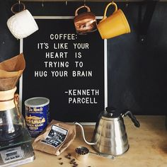 A Tuesday without caffeine might as well be a Monday | Letterfolk - yesterday's letter board in today's home. : @stephdeephoto