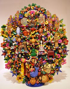 mexican tree of life Veronica Castillo | Tree of Life With Theme of Handcrafts By Oscar Soteno on Display at ...