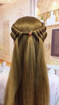 Hairdo For Long Hair, Easy Hairstyles For Long Hair, Braided Hairstyles, Front Hair Styles, Medium Hair Styles, Natural Hair Styles, Hair Style Vedio, Hair Videos, Hair Hacks