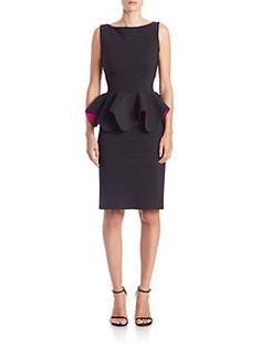 La Petite Robe di Chiara Boni - Peplum Cocktail Dress