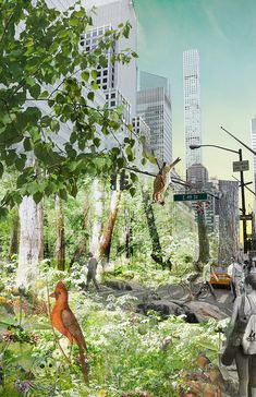A Wild Place – a vision for Beyond the Centerline international design competition #newyork #design #concept #render #perspective #landscape #urbanism #wild #rewild #life #visualisation