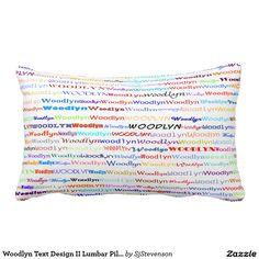 Woodlyn Text Design II Lumbar Pillow