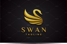 Description : Swan logo is a luxury logo suitable for such fields as hotels, jewelry, fashion, and many others. Swan Logo, Luxury Logo, Font Names, Beauty Logo, Monogram Logo, Black And White Colour, Graphic Design Inspiration, Logo Templates, Business Card Design