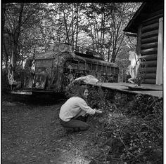 Merry Prankster Paula Sundsten at Ken Kesey's La Honda ranch in April Ken Kesey, Tom Wolfe, San Mateo County, Beat Generation, Hippie Life, Police Dogs, Summer Of Love, Cops, Woodstock