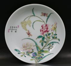 "A Chinese Yellow-Ground ""Famille -Verte"" Plate"