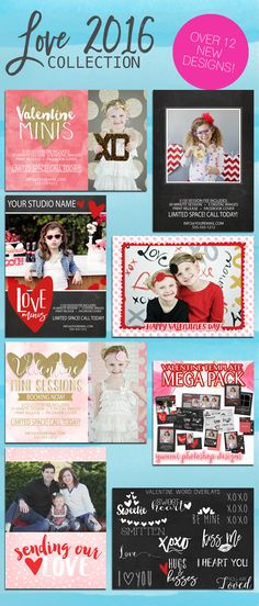 Check out these specials from Yummi Designs Photoshop Templates!  #photoshoptemplates #valentines #psd #minisession #minisessions #valentinecard #birdesign