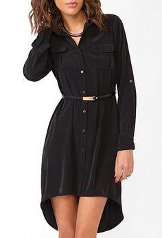 Belted Satin Shirtdress | FOREVER21 - 2031644155