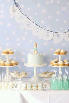 Peter rabbit dessert table from Imprintables
