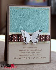 Beautiful Thank You card - Come by and visit my blog: www.lauraevangeline.blogspot.com