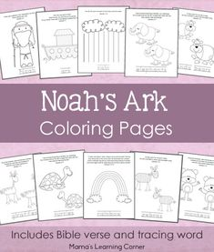 Free Printables for Kids: Noah's Ark Coloring Pages | Free Homeschool Deals ©