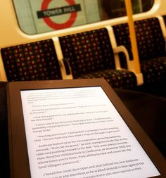 Day 5 of #100happydays my recently developed hobby .. :P ;) while commuting #tube #reading #thenameofthewind #kindle #nicebook #towerhill by vighnesh_anap