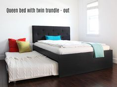 How To: Build A Queen Bed With Twin Trundle - Ikea Hack