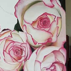 work in progress pastel painting of roses Pastel Roses, Artist Art, Artwork, Flowers, Painting, Work Of Art, Painting Art, Paintings, Royal Icing Flowers