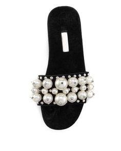 The Original Celebrity Shoes Site * Since 2005 Celebrity Shoes, Shoe Sites, Miu Miu Shoes, Michael Kors, Slide Sandals, Luxury Fashion, Velvet, Pearls, Celebrities